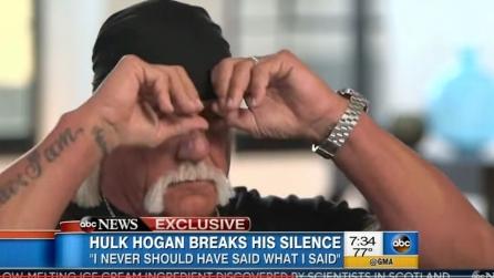 Hulk Hogan piange in tv durante un'intervista