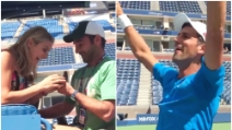 Proposta di matrimonio in campo: Djokovic aiuta l'amico a chiedere la mano dell'arbitro