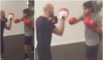 Pippo Inzaghi prova a cambiare sport: eccolo cimentarsi con la boxe