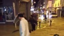 Cannes, strade come fiumi dopo l'alluvione