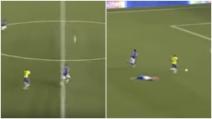 In vantaggio sull'avversario, combina un pasticcio e regala il gol