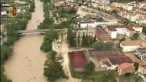 Benevento, alluvione vista dall'elicottero della polizia