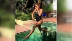 Mamma Canalis in forma dopo il parto: tuffi in piscina per celebrare l'autunno