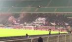 In cinquemila a San Siro, lo spettacolo dei tifosi del Crotone