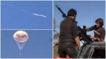 Abbattuto jet russo sul confine siriano: i ribelli sparano contro i piloti che si lanciano col paracadute