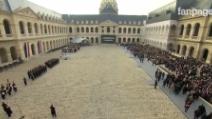 Attentati Parigi, la cerimonia ufficiale in memoria delle vittime