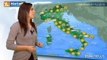 Previsioni meteo per lunedì 7 dicembre 2015
