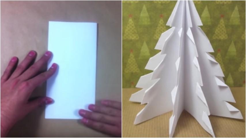 Lavoretti Di Natale Semplici Con La Carta.Come Realizzare Un Albero Di Natale Di Carta
