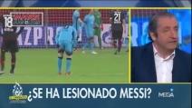 Bayer Leverkusen-Barcellona, Messi si tocca la coscia molte volte durante la partita