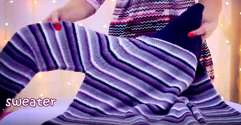 Come ottenere un perfetto kit per l inverno da un vecchio maglione f77304df8c2f