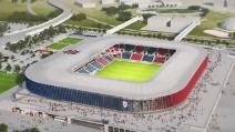 Cagliari, ecco come sarà il nuovo stadio