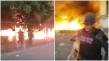 Il poliziotto che mette in pericolo la sua vita per salvare il cane dalle fiamme