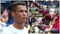 """Cristiano Ronaldo insultato dai tifosi: """"Sei un mercenario, figlio di pu***na, vaffa****o"""""""