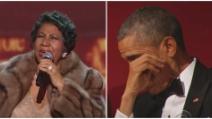 Standing ovation per Aretha Franklin: Obama si commuove