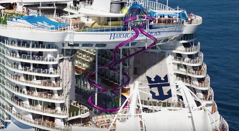 45 metri in picchiata lo scivolo pi alto che si sia mai for Cabina interna su una nave da crociera