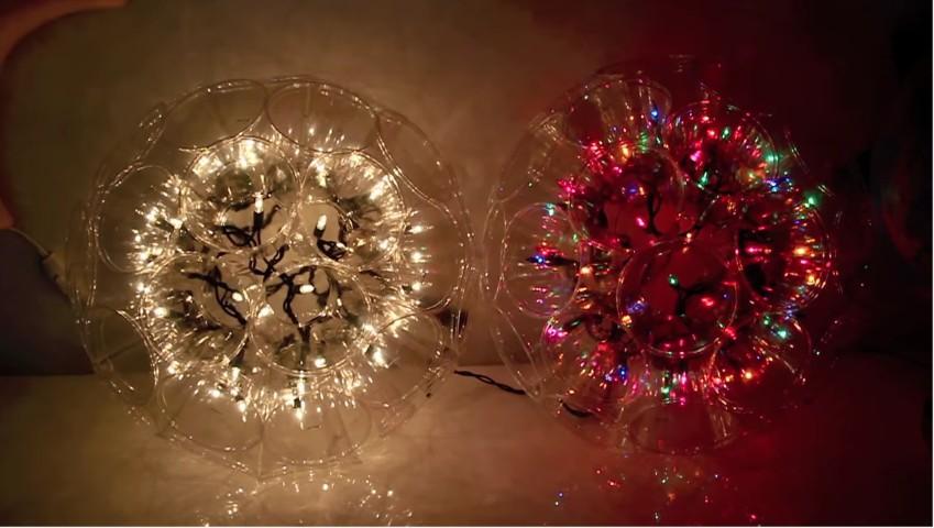 come realizzare una lampada con i bicchieri del vino - Paralume Con Bicchieri Di Carta