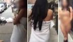 Aveva inviato foto osé a 7 uomini, il marito la costringe a camminare nuda per strada