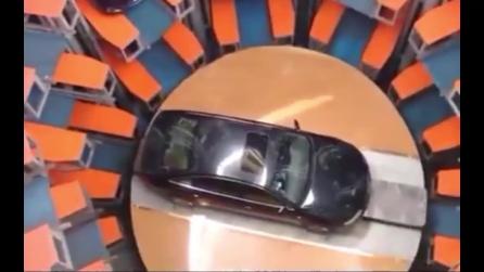 Ecco come vengono parcheggiate le auto in Cina: l'idea geniale