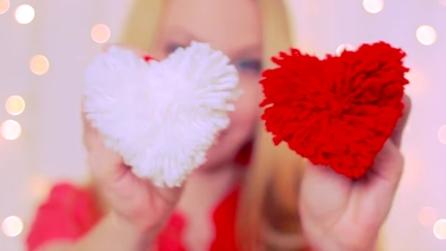 Idee per San Valentino: come realizzare un pompon a forma di cuore
