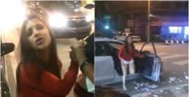 Ubriaca aggredisce l'autista Uber e gli distrugge la macchina