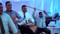L'Haka maori al matrimonio in onore degli sposi