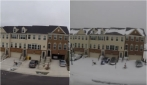 28 ore d'inverno in 1 minuto: ecco come la tempesta di neve trasforma il paesaggio