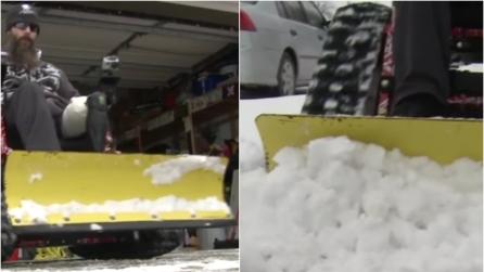 La neve lo aveva bloccato in casa, ecco la magnifica reazione del veterano disabile