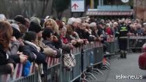 Le spoglie di Padre Pio arrivate a San Lorenzo fuori le Mura 20160203 video 18485577