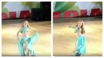 Baby danzatrice del ventre lascia tutti senza parole quando inizia a ballare