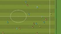 Roma-Barcellona, il gol di Florenzi in versione videogame anni '90