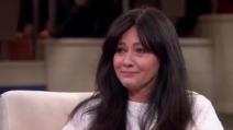 Le lacrime di Shannen Doherty mentre parla del cancro