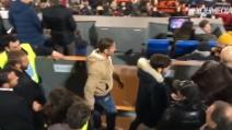 L'ingresso di Totti all'Olimpico: ovazione del pubblico