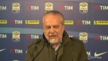 """Napoli, il rinnovo di Sarri: """"Dipende solo da me"""", dice De Laurentiis"""