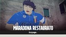 Restaurato il murales di Maradona ai Quartieri Spagnoli