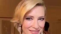Oscar 2016, Cate Blanchett si mostra prima di arrivare sul Red Carpet