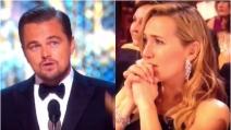 La commozione di Kate Winslet per l'Oscar di Leonardo DiCaprio
