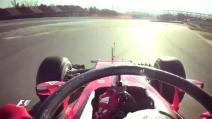 Formula 1, Vettel sulla Ferrari prova il sistema Halo