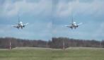 Condizioni proibitive a Londra: l'aereo sbanda paurosamente in fase di atterraggio