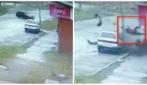 Un terribile incidente, vengono sbalzati fuori dall'auto ma ne escono illesi