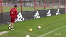 Lewandowski torna al Bayern Monaco e dà spettacolo in allenamento