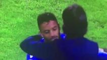 Palermo-Lazio, segna Felipe Anderson che va ad abbracciare Simone Inzaghi