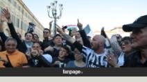 Juventus campione, esplode la festa dei tifosi a Torino