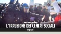 Maria Elena Boschi a Napoli per Valeria Valente: scontri tra polizia e centri sociali