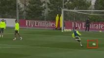Cristiano Ronaldo sbaglia 4 gol a porta vuota in allenamento