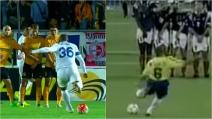Una punizione alla Roberto Carlos: il tiro a tre dita ritorna di moda
