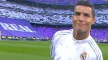"""Real Madrid-Manchester City, Cristiano Ronaldo """"gioca"""" prima dell'incontro"""