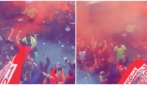 Europa League, accoglienza dei tifosi del Liverpool prima della gara con il Villarreal