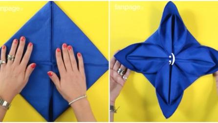 Piegare Asciugamani Forme : Ecco come piegare un tovagliolo a forma di rosa in pochi secondi