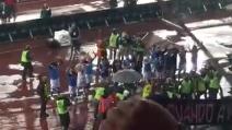 """Festa a fine partita al San Paolo, a fine partita esplode il famoso """"The Champions"""""""