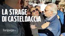 Funerali vittime Casteldaccia, le urla disperate del padre durante il corteo funebre a Palermo